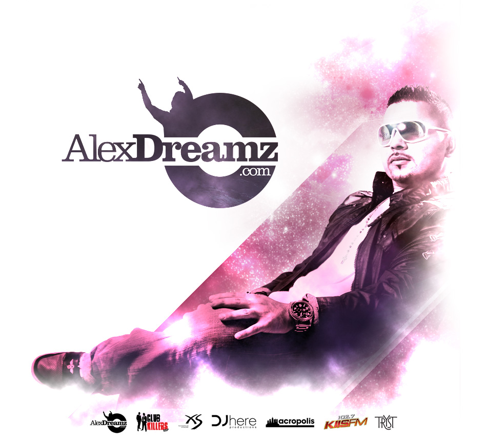 Alex Dreamz Splash Page